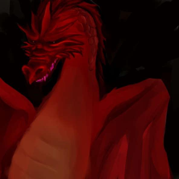 赤いドラゴンもどき