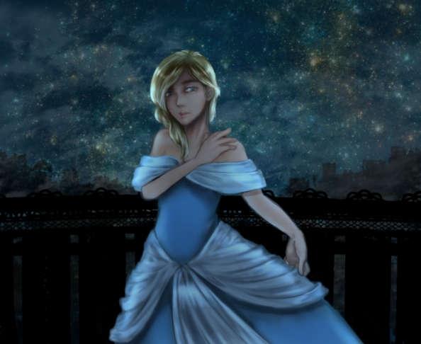 青いドレスのプリンセス