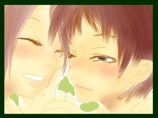 笑顔の二人の少女