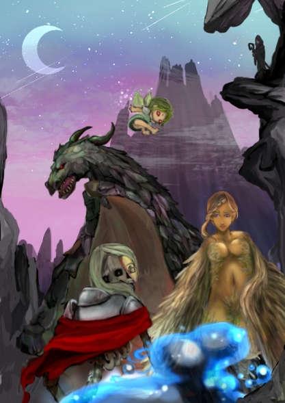 ドラゴンハーピースライム妖精骸骨などのモンスター